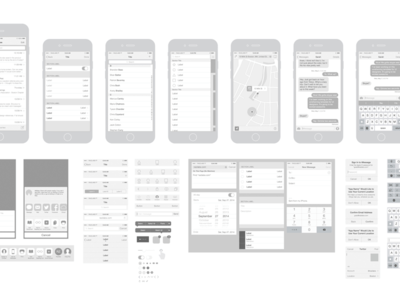Free iPhone 6 Vector Wireframing Template Toolkit