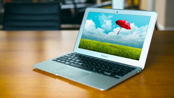 Macbook air mockup psd free download