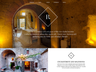 PSD Template For Resort, Hotel or Bed & Breakfast Website