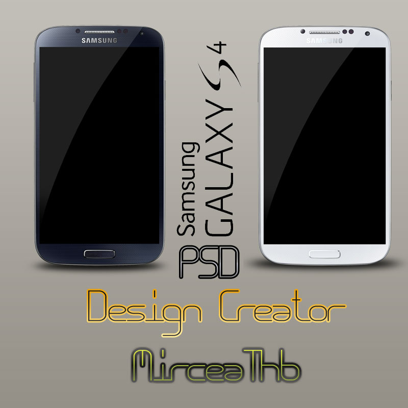 Samsung Galaxy S4 Black and White PSD