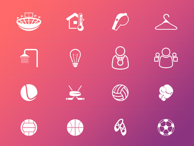 Sport Icons PSD