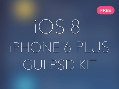 iOS8 iPhone 6 Plus GUI Kit PSD