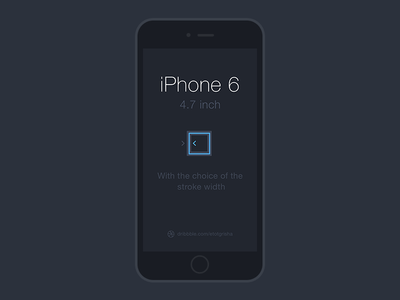 iPhone 6 Line Mockup PSD Template