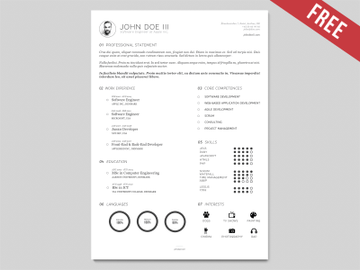 CV Resume Template Vector AI