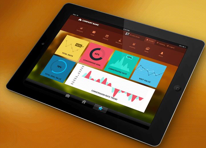 Dashboard UI Design Free PSD