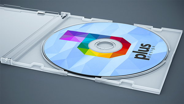 Free CD Cover Mock-up PSD Template
