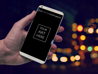 Free PSD Smartphone Android App Template