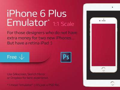 PSD Mockup – iPhone 6 Plus Emulator – Free PSD,Vector,Icons