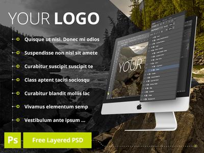 iMac Layered MockUp PSD Template