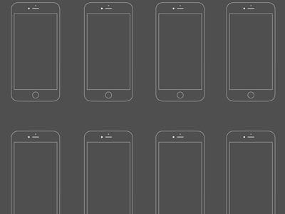 iPhone 6 Wireframe Mockup PSD