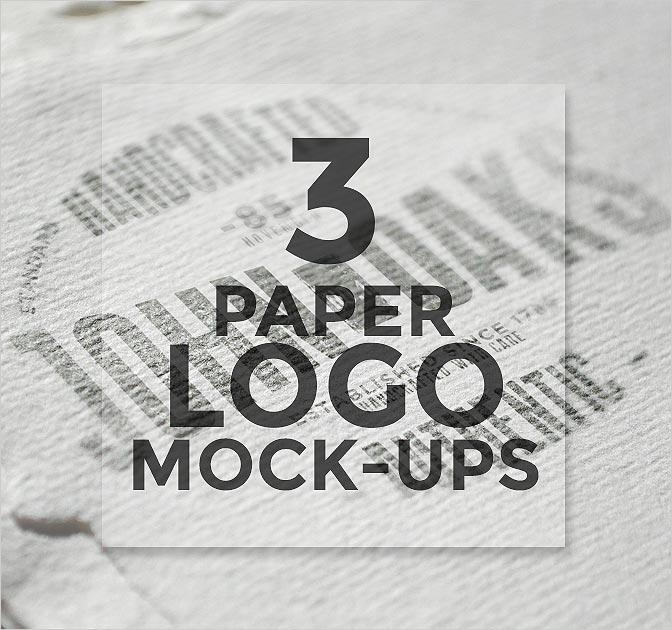 3 PSD Paper Logo Mock-Ups Free Download