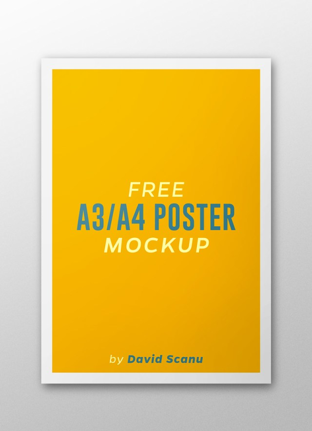 A3  A4 Flyer Poster Mock Up PSD Template 02.