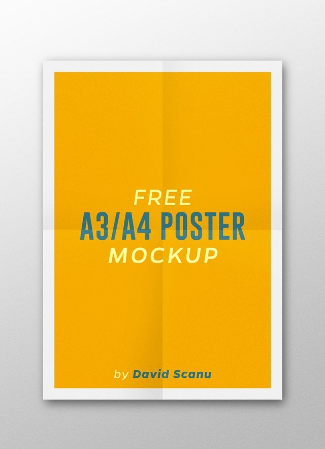 A3  A4 Flyer Poster Mock Up PSD Template 04.
