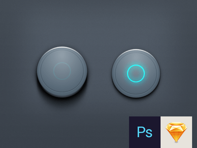 Button PSD & Sketch Download