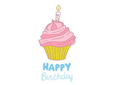 Free Birthday Cupcake vector