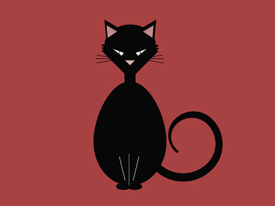 Free Black Cat Vector