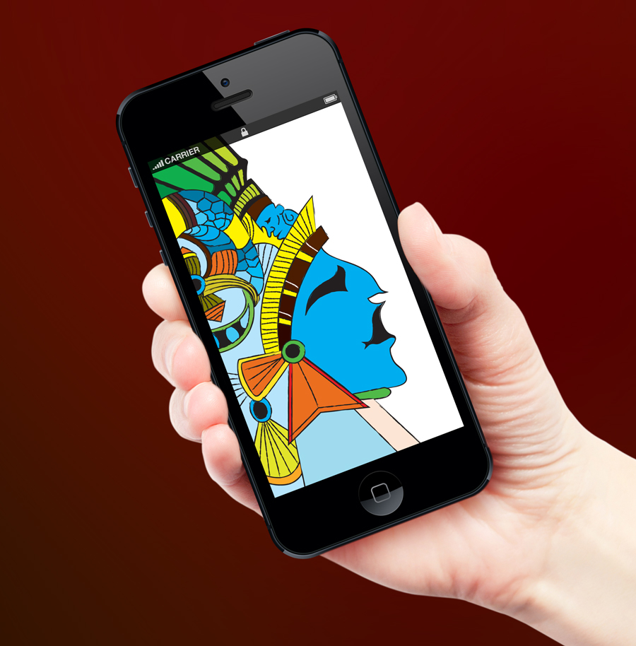 Free Mayan Face Vector illustration