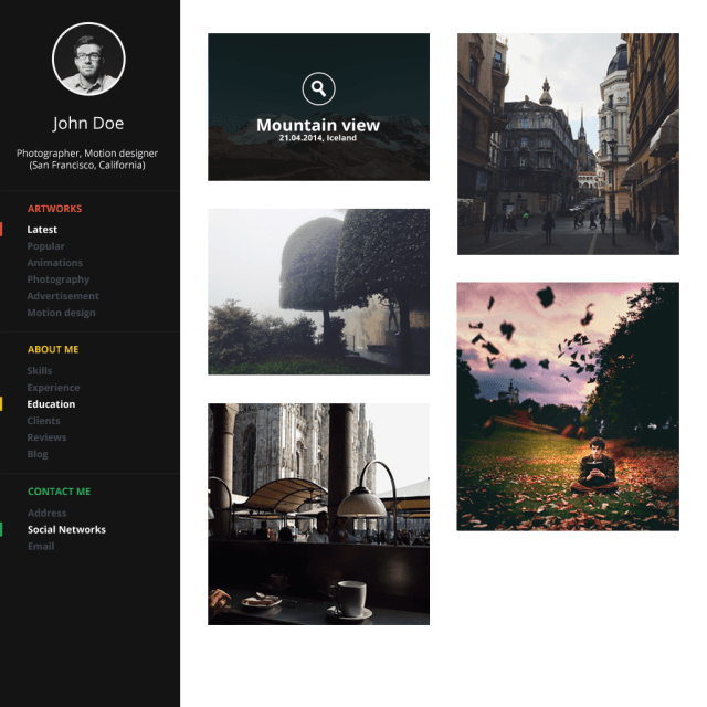 Free Portfolio Template Design