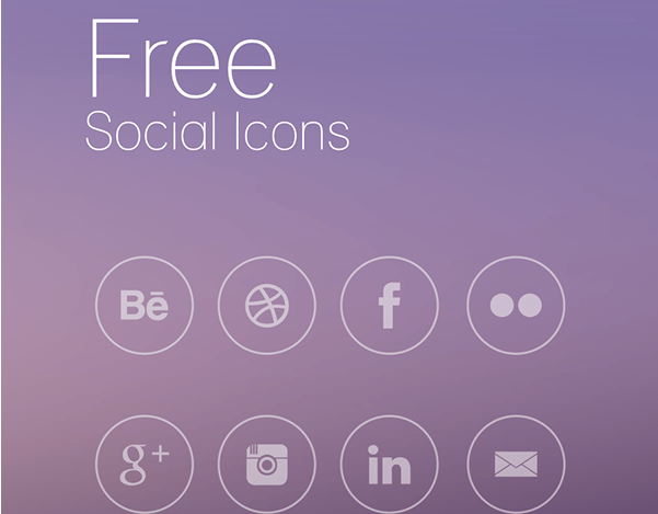 18 Free Round Social Icons