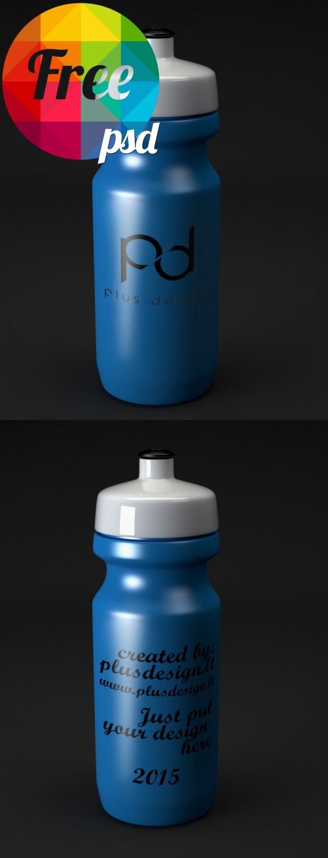 Free Water Bottle Mockup PSD Template