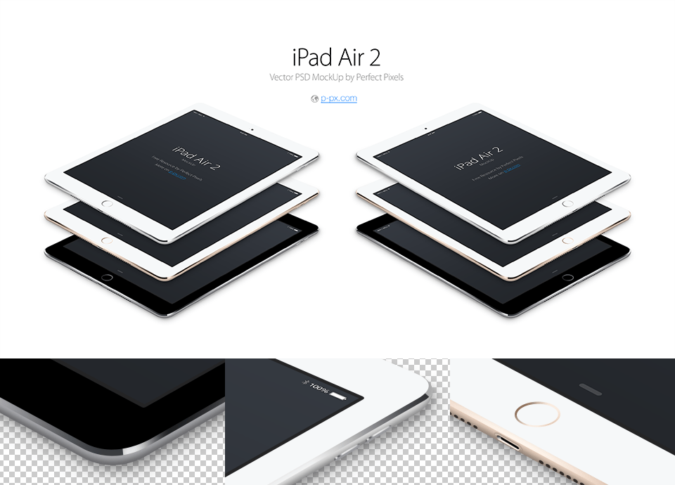 Ipad Air 2 Free Angled Vector PSD MockUp