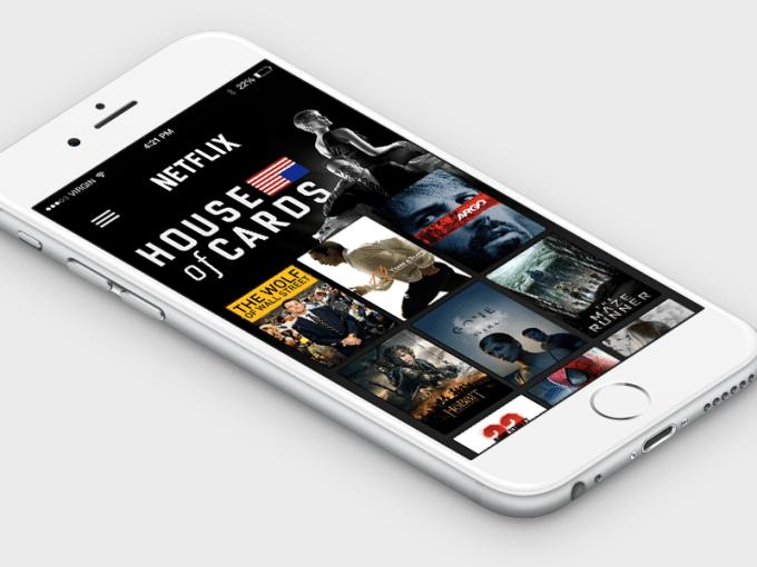 Netflix for iPhone 6 Concept PSD