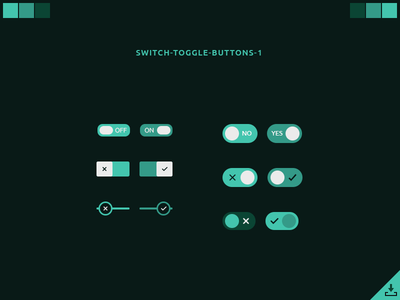 Switch Toggle Buttons Free PSD