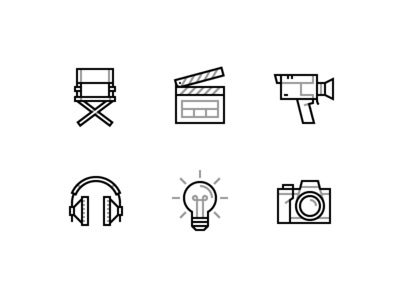 Vector Cinema icons Free Download