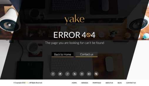 Yake 404 Error Page UI (2 Theme) Free PSD