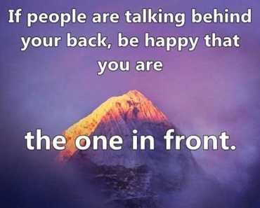 funny quotes People Talking behind your back be happy