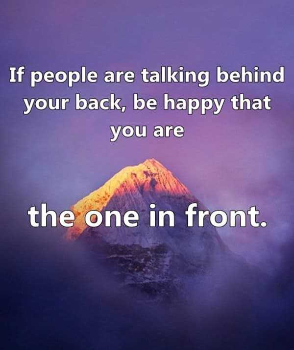 Funny Quotes People Talking Your Back Be Happy Daily Funny Quote