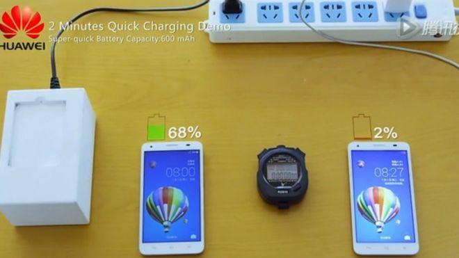 Huawei โชว์สองแบตเตอรี่ต้นแบบชาร์จไวฝุดๆ