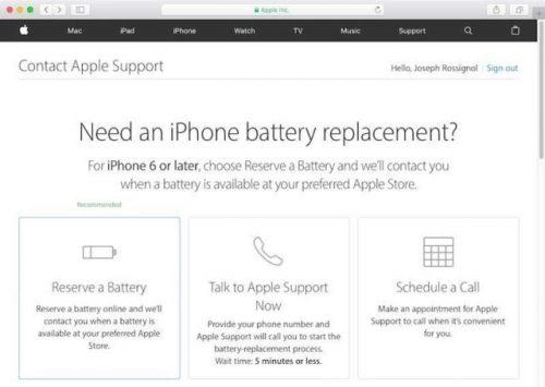 Apple battery program