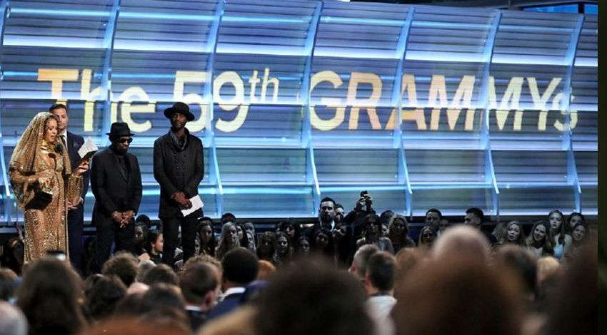 8 Stunning Anti-Trump Protests at the 59th Grammy Awards