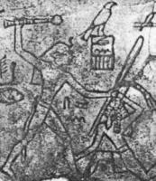 Figure 3 - Egyptian king smiting