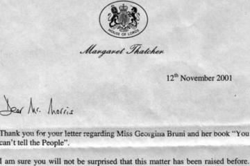 Thatcher Letter on UFO controversy