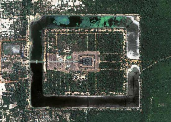 Angkor Wat from Space