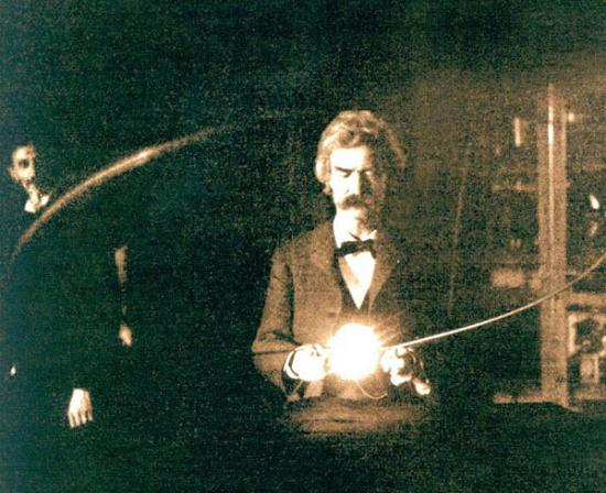 Mark Twain in Nikola Tesla's Laboratory