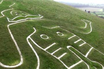 Cerne Abbas Giant with Moustache
