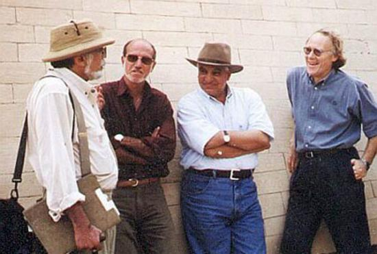 Robert Bauval and Zahi Hawass, with Graham Hancock and John Anthony West