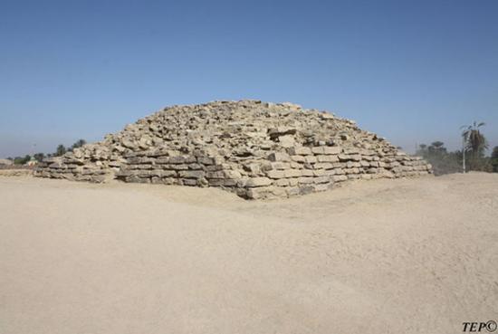 Newly Discovered Step Pyramid, (photo via Tell Edfu Project)