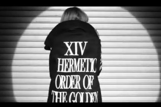 Ciara wearing Hermetic Order of the Golden Dawn clothing