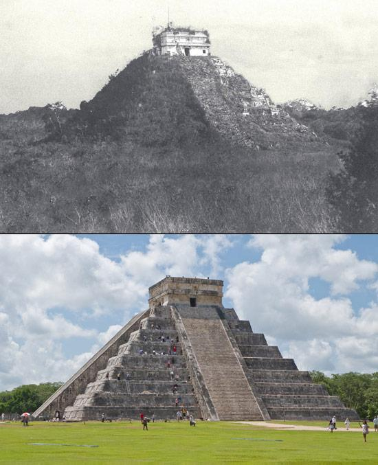 Chichen Itza in the past, and now
