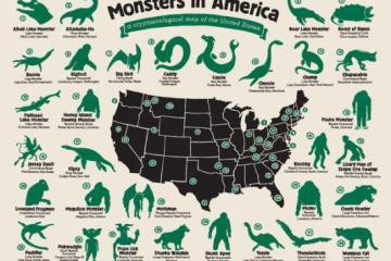 Monsters in America Map