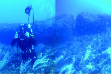 Underwater monolith discovered off the coast of Sicily