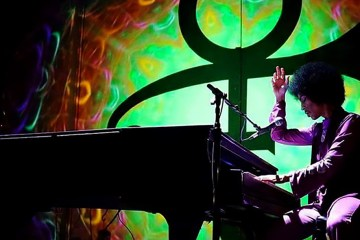 Prince on his Piano and Microphone Tour