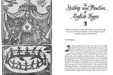 Title Spread for John Reppion article in Darklore 9