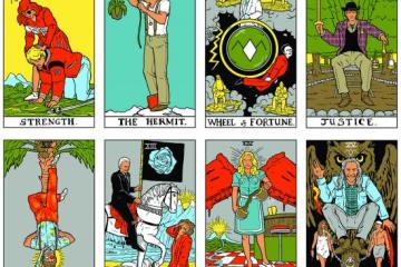 Selection of cards from the Twin Peaks Tarot