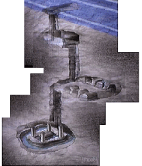 Three levels of the 'Osiris shaft'