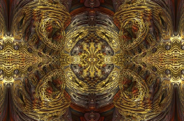 Gold Fractal, by Niedec